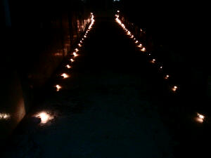 Our lit walkway.